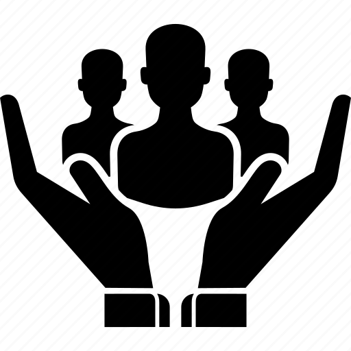 business, hand, hands, people, safety, team icon