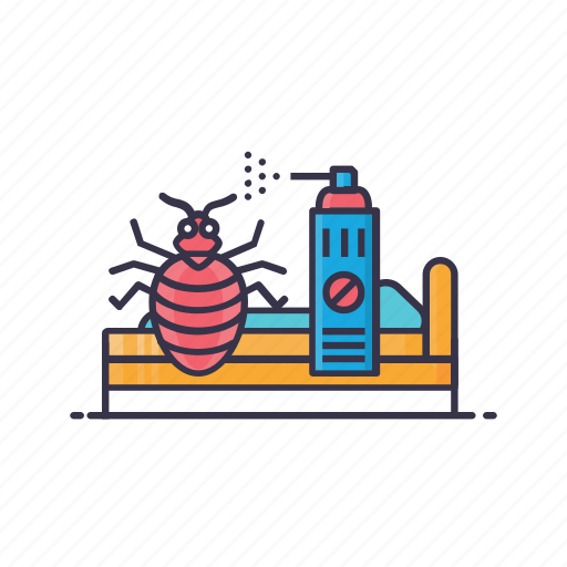 ant, bed, bug, cockroach, lady bird, removal, spray icon