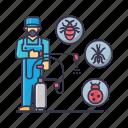 bug, compressor, control, insects, pest, smoke, spray