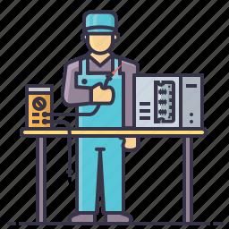 cpu, electronic, installation, instrument, meter, mount, tv icon