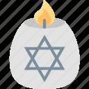 candle, hanukkah, israel, jewish, light, star, tradition icon