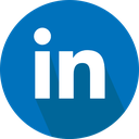 linkedin, logo, social network icon