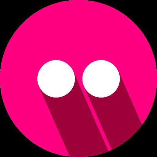 flikr, logo, social network icon