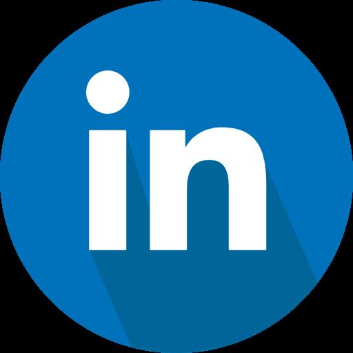 linkedin, logo, social network icon