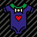 baby, baby apparel, clothes, girl clothes, shirt icon