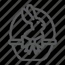 animal, basket, bunny, easter, happy, holiday, rabbit icon