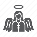 angel, christmas, heaven, religion, wing icon