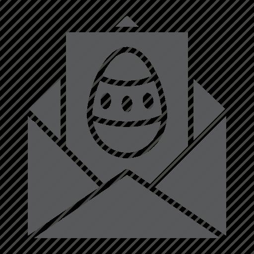 Card, easter, egg, envelope, greeting, holiday, postcard icon - Download on Iconfinder