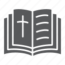 bible, book, christian, cross, holy, religion icon