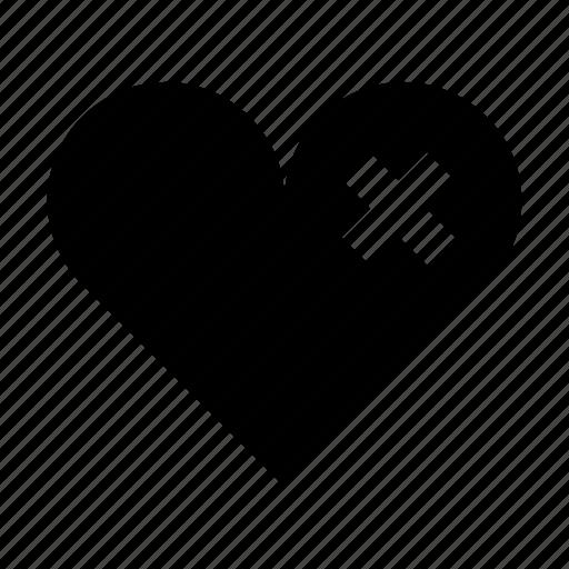 broken heart, cardiac, chest, heal, health, heart, pain icon