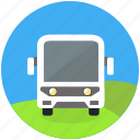 bus, excursion, round, shuttle, tour, tourism, trasit, travel icon