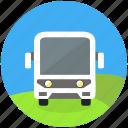 bus, excursion, round, shuttle, tour, tourism, trasit, travel icon