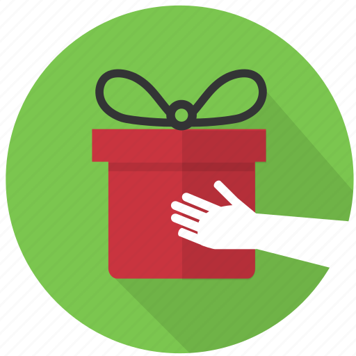 birthday, bonus, box, bring, gift, giftbox, hand, present, reward icon