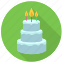 birthday, cake, candle, celebration, dessert, happy, sweet icon