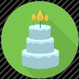 birthday, cake, candle, celebration, dessert, happy, sweet icon