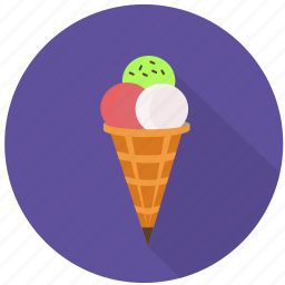 candy, cold, cone, cream, dessert, ice, sweet icon