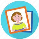 avatar, girl, image, memories, photo, photos, picture, poster, print icon
