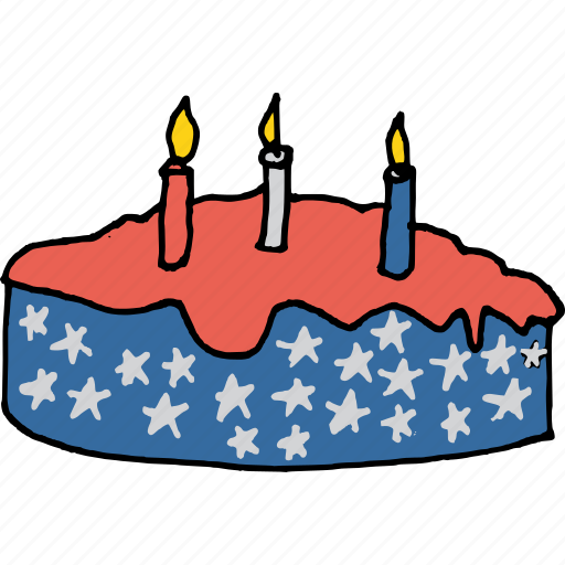 america, american, cake, candle, celebrate, celebration, july 4th icon
