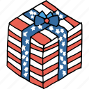 america, american, celebrate, gift, independence day, july 4th, present icon