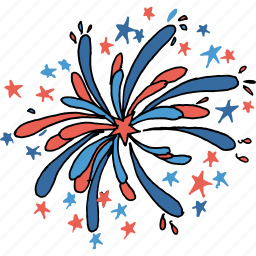 american, blast, celebrations, crackers, fireworks, july 4th, united states icon