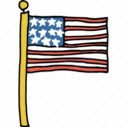american, country, flag, independence day, pole, united states icon