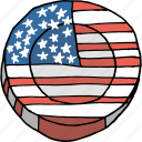 america, american, celebrations, coin, flag, july 4th, united states icon