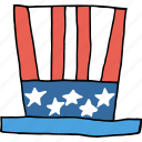 america, american, flag, hat, independence day, july 4th, united states icon