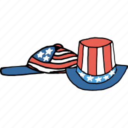 america, american, cap, celebrations, flag, hat, july 4th icon