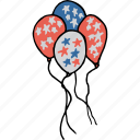 america, american, balloon, flag, independence day, july 4th, star icon