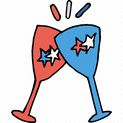 america, american, celebration, drink, july 4th, party, united states icon