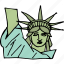 america, american, freedom, july 4th, liberty, statue, united states icon