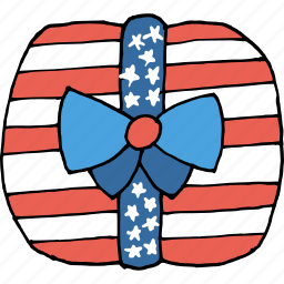 america, american, celebrate, gift, independence day, july 4th, ribbon icon
