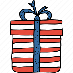 america, american, celebrate, gift box, independence day, july 4th, ribbon icon