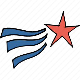 america, independence day, july 4th, star, united states, wave icon