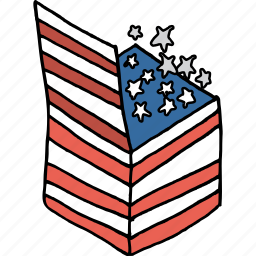 america, american, celebrate, gift, independence day, july 4th, stars icon