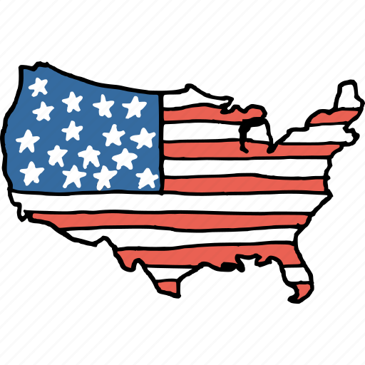 america, american, country, july 4th, map, national, united states icon