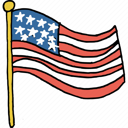 america, american, celebrations, flag, july 4th, united states, waving icon
