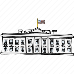 america, american, building, independence day, president, united states, white house icon