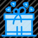 box, gift, mom, ribbon icon