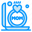 gift, mom, mother, ring icon