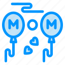 balloons, fly, love, mom icon