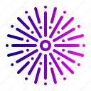 celebration, crackers, firecrackers, fireworks, new, time, year icon