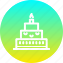 birthday, cake, candle, celebrate, celebration, christmas, new year icon
