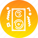deejay, fun, loud, music, noise, party, speaker icon