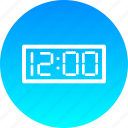 clock, countdown, eve, new year, noon, time, twelve icon