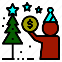 argent, fund, money, penny, silver icon