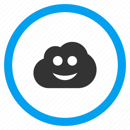 cloud, happy smile, positive forecast, sky, smiley, weather, web icon