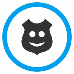 glad smiley, happy face, positive emotion, protection, security, shield, smile icon