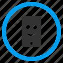 emoticon, glad smiley, happy, mobile phone, positive emotion, smartphone, smile face icon
