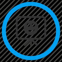 board, glad smiley, happy, positive emotion, presentation, screen, smile icon